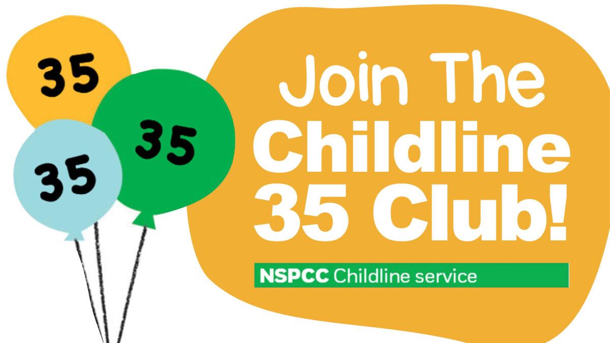 Celebrating 35 Years of Childline: Join the Childline 35 Club